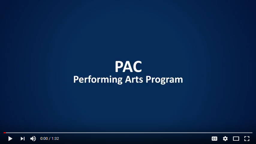 Performing Arts Program YouTube