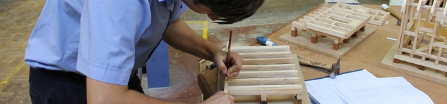 Boy working with Wood